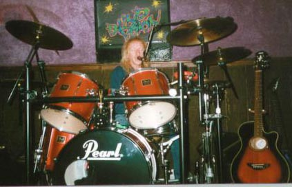 My Uncle Colin playing the drums